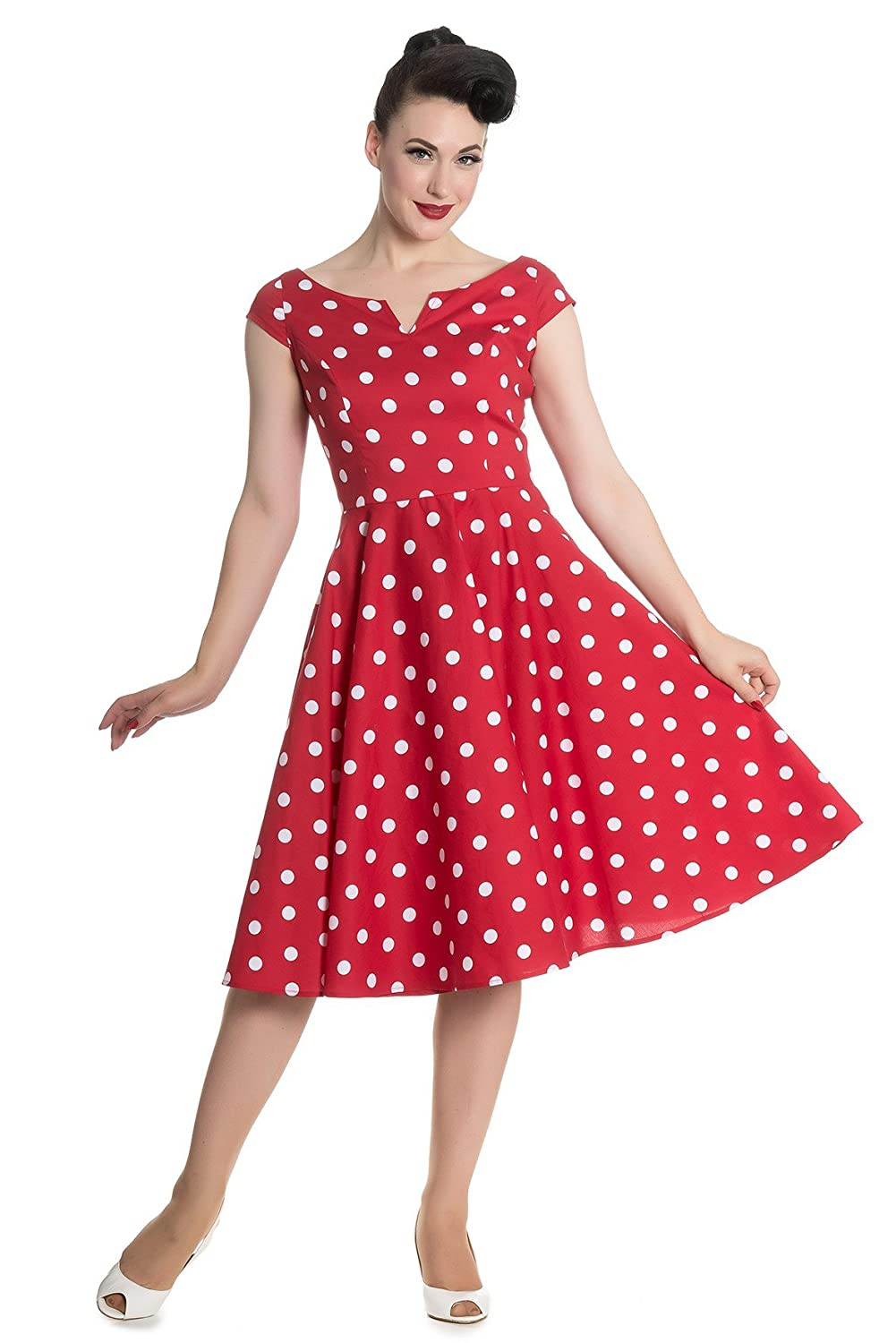 Hell Bunny Nicky 50s retro Pin Up Polka Dots Rockabilly Swing Petticoat Kleid