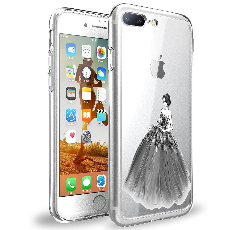 Funda para iPhone 8/8 Plus, Suave TPU Transparente Case Cover el iPhone 8 / 8 Plus