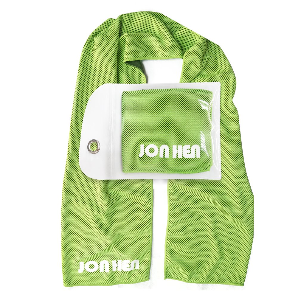 Jonhen Toalla de Enfriamiento de Hielo,100 x 30 cm,Toalla Fitness para Alivio Instantáneo,Uso como Enfriamiento del Cuello Venda Pañuelo Bufanda Estancia ...