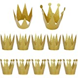 LeeSky 12 Pack Gold Birthday Crown Hats,Kids and Adult Party Hats,Party Decorations Crowns