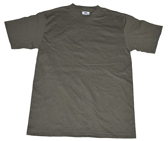 e8a5cfb29 Pro Club Men's Pack of 6 Heavyweight Cotton T-shirt Small (Military Green)