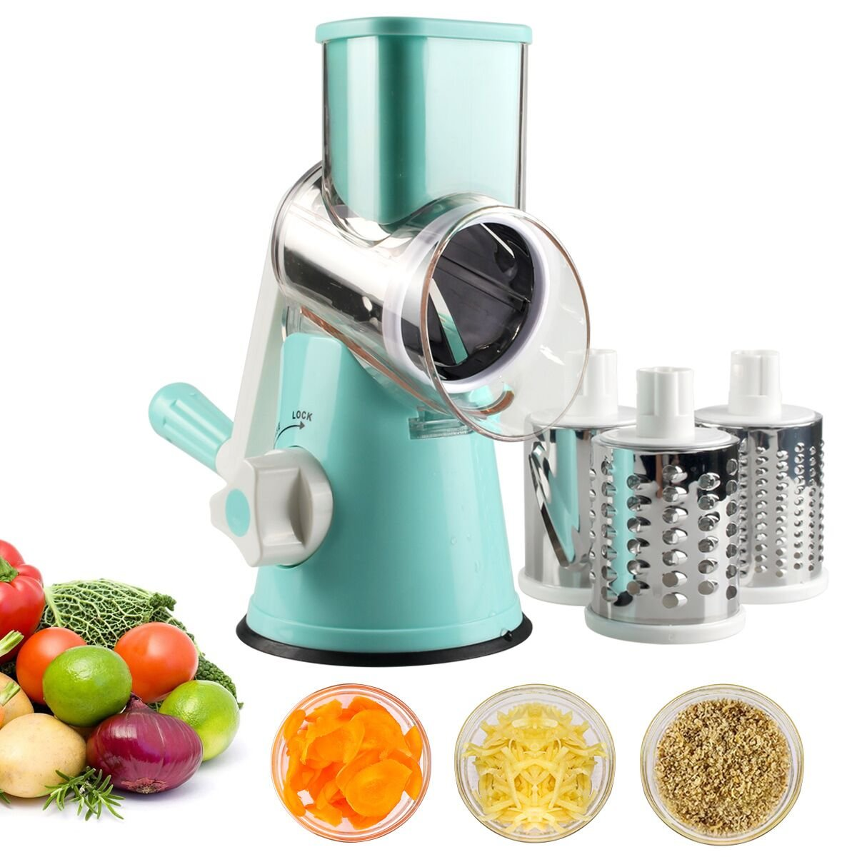 Amazon.com: Vegetable Mandoline Slicer, Zacfton Vegetable Fruit ...
