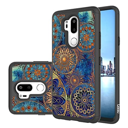 LG G7 ThinQ Case, LG G7 Case, LEEGU [Shock Absorption] Dual Layer Heavy Duty Protective Silicone Plastic Cover Rugged Case for LG G7 ThinQ (2018) - ...