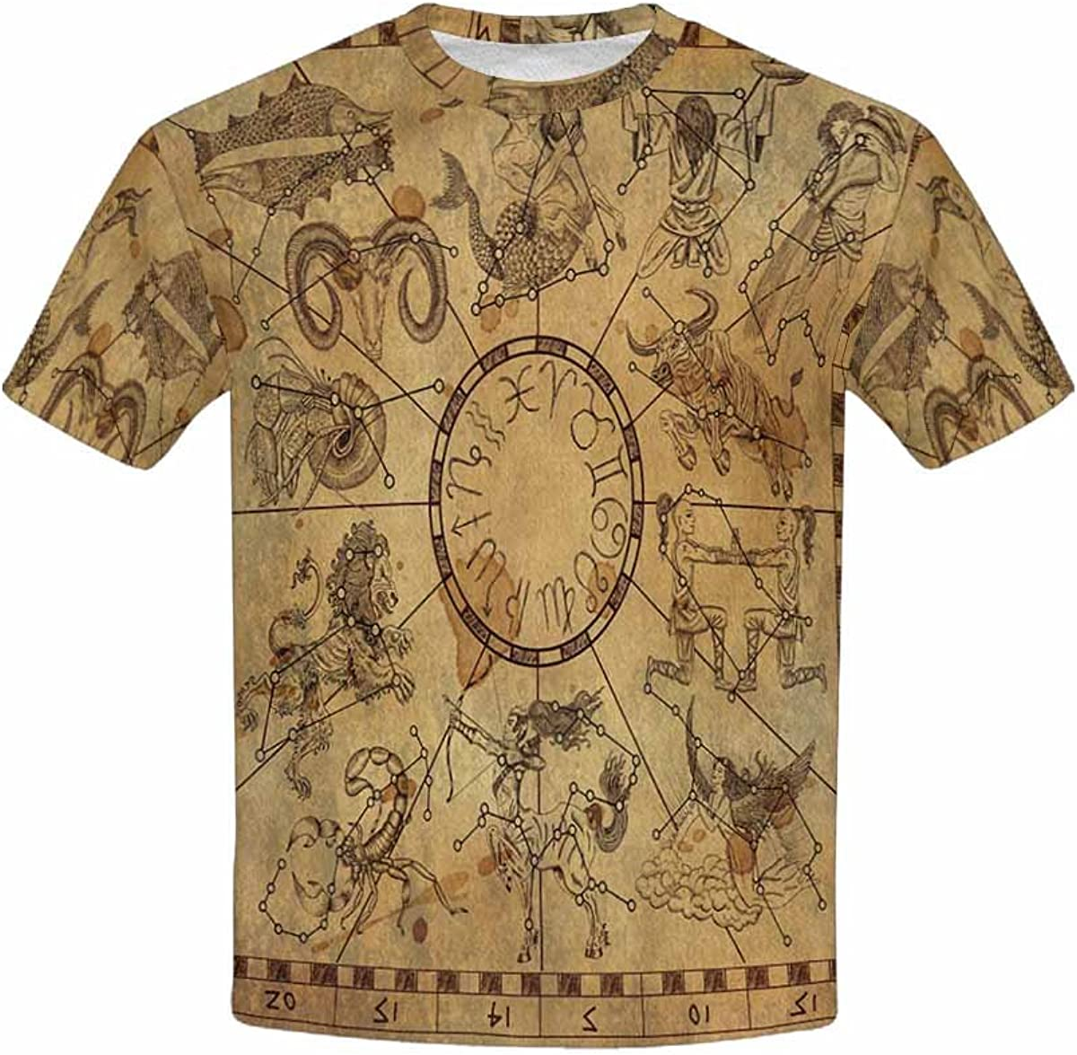 XS-XL INTERESTPRINT Kids T-Shirts Zodiac Symbols and Sky Constellations