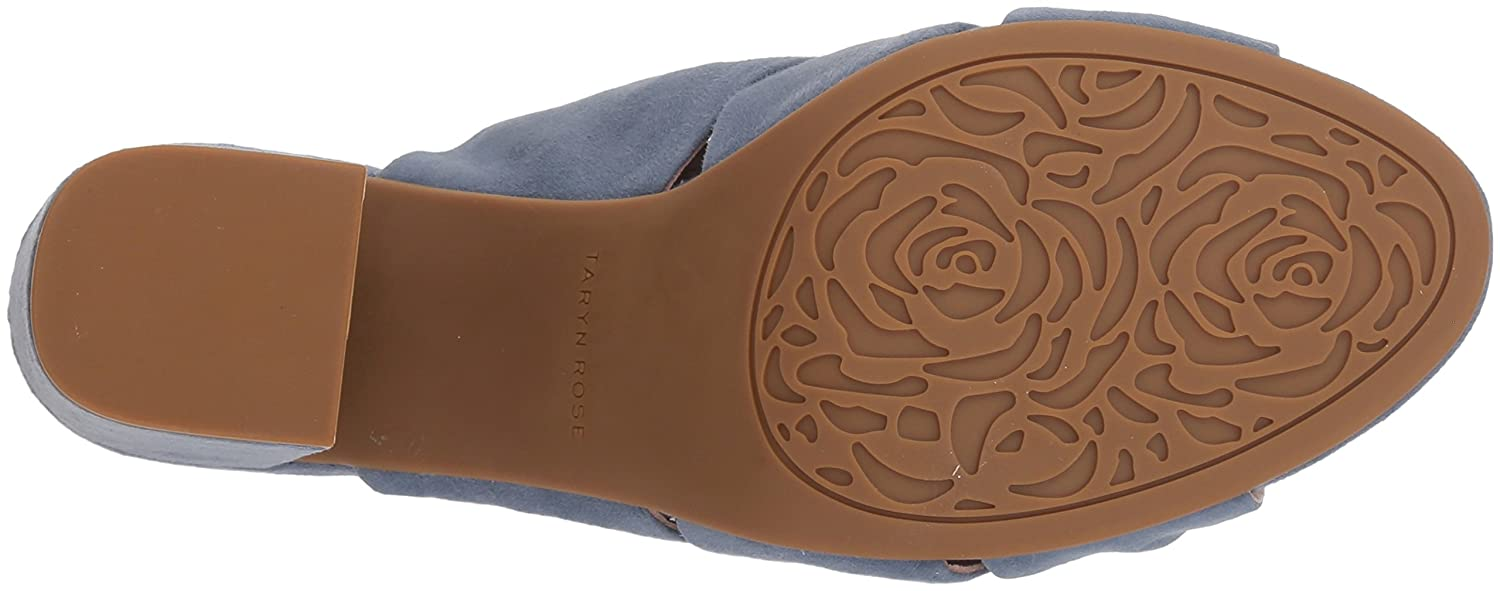 Taryn Rose Women's Lana Sheep Nappa Slide Sandal B079WKL4Y1 5.5 M Medium US|Denim