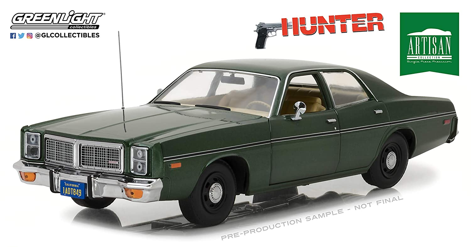 GreenLight 1:18 Artisan Collection - Hunter (1984-91 TV Series) - 1977 Dodge Monaco (19045)