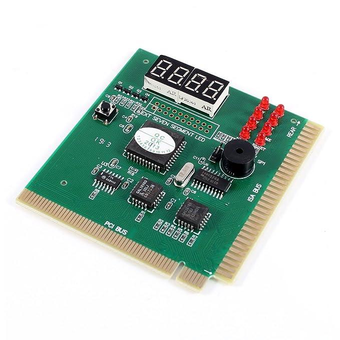 RETYLY Analizador de codigo de Puesto PCI/ISA de 4 digitos Tarjeta ...