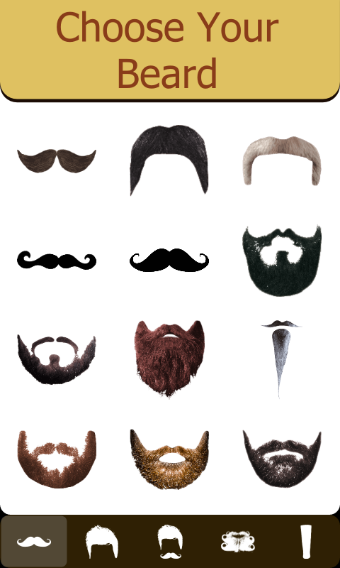 amazon com mustache and beard mirror appstore for android