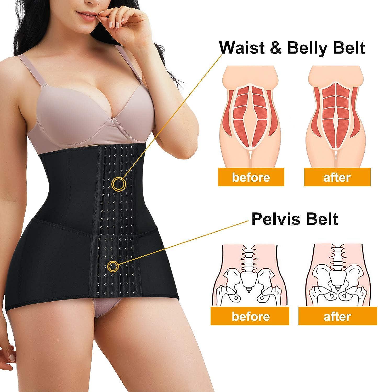 CYDREAM Women 2 in 1 Waist Trainer Postpartum Belly Pelvis Belt Tummy Control Cincher Corset Girdle Body Shaper
