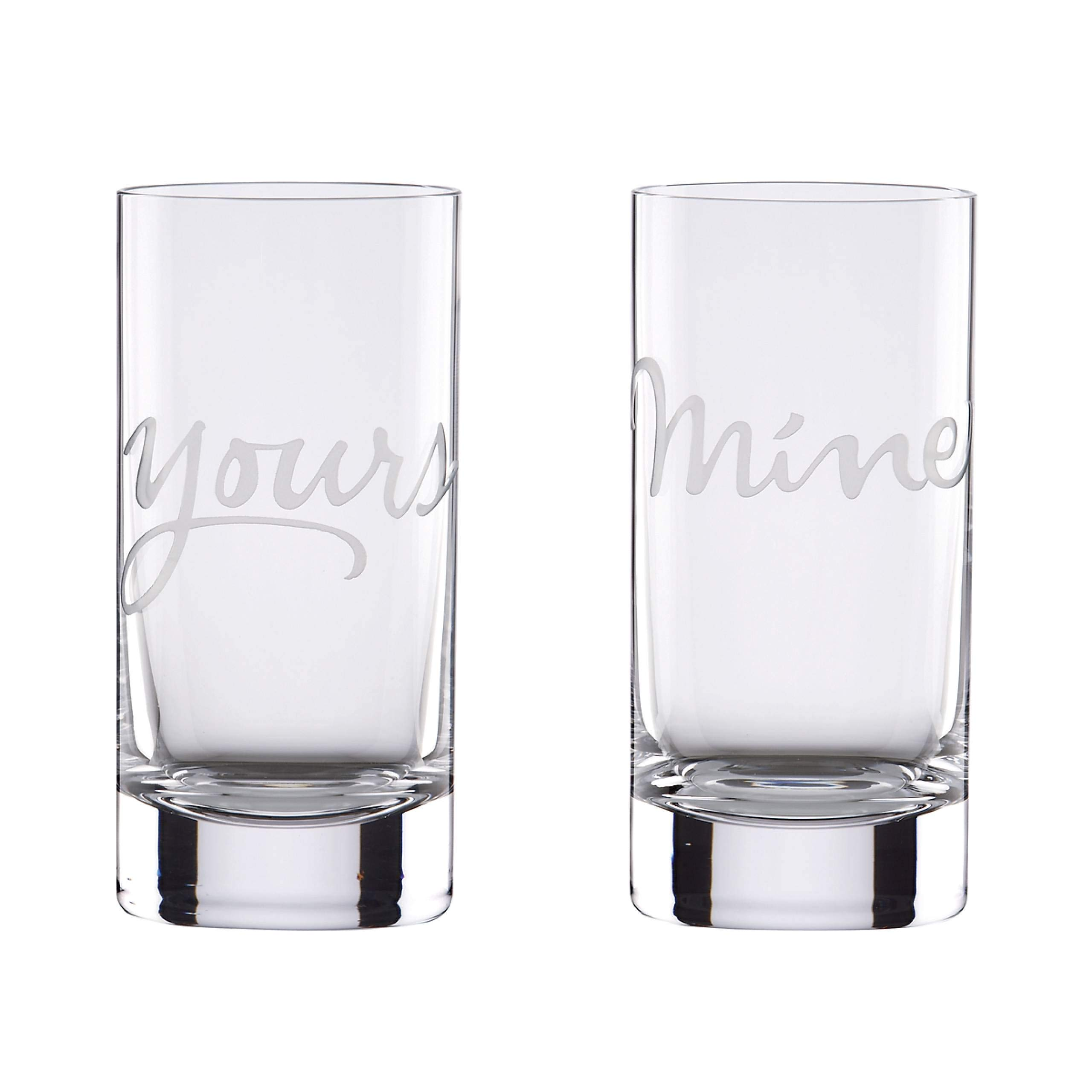 kate spade new york Two of a Kind Mine & Yours 2-Piece 16 Ounce Highball Glass Set