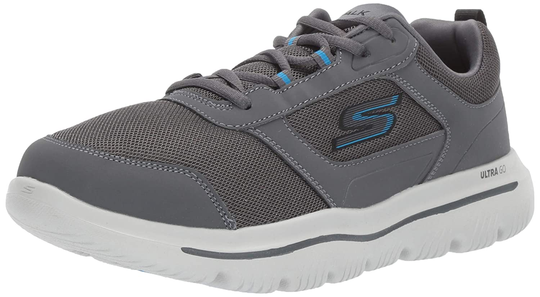 moda clasica gris (Charcoal azul Ccbl) 45.5 EU Skechers Skechers Skechers Go Walk Evolution Ultra-enhan, Zapatillas para Hombre  deportes calientes