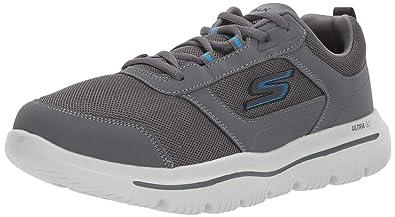 SKECHERS GO WALK 4 sneakers grigio scarpe uomo goga max mod
