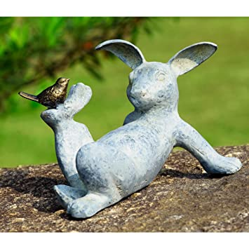 Amazon.com : SPI Home 33674 Playful Rabbit Garden Sculpture : Outdoor  Statues : Garden U0026 Outdoor