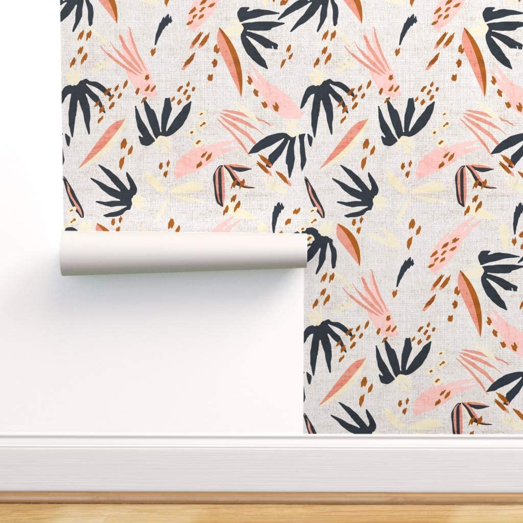Spoonflower Peel And Stick Removable Wallpaper Abstract Boho