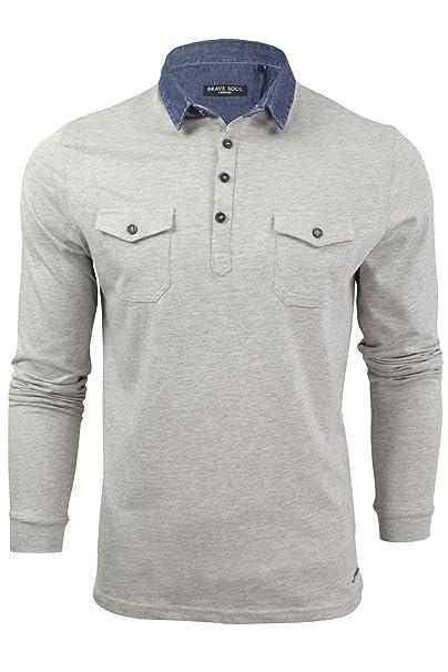 Brave Soul - Polo - camisa - Básico - con botones - para hombre t7TPi8o