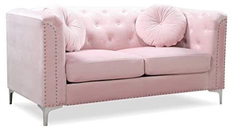 Wondrous Amazon Com Glory Furniture Pompano G894A L Pink Loveseat Onthecornerstone Fun Painted Chair Ideas Images Onthecornerstoneorg