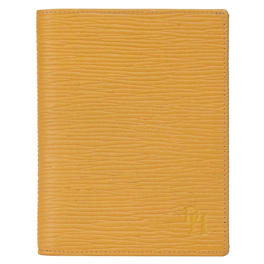 David Hampton Luxury Leather Jotter & Passport Holder Straw Oak Grain