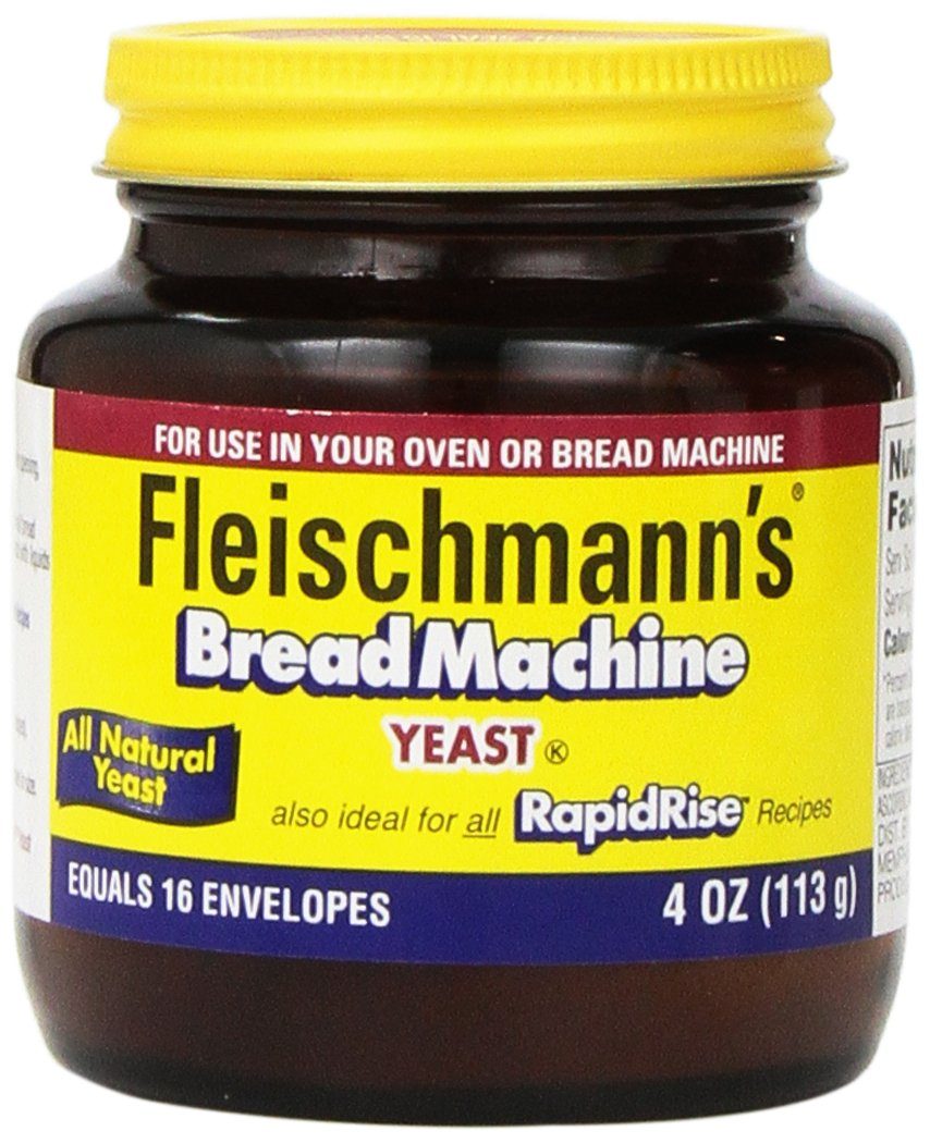 Fleischmann's Yeast for Bread Machines, 4-ounce Jars (Pack of 1)