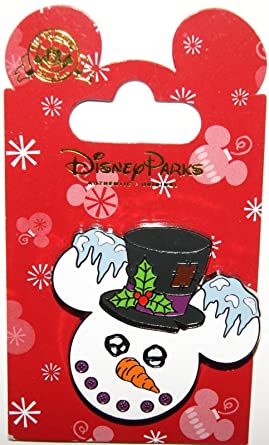 disney christmas 2014 snowman mickey ears pin theme park exclusive