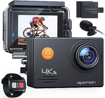 Apeman Action Cam A79 Pro 4 K 20 Mp Wifi Wasserdicht Kamera