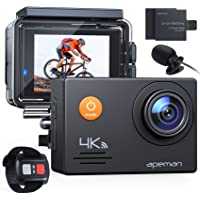 APEMAN Action Camera A79, 4K 20MP WiFi External Microphone Remote Control Underwater 40M Waterproof Sports Cam for…