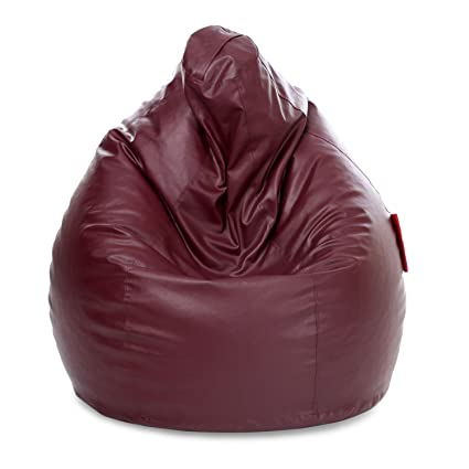 Nexis Sundry Leatherrete Furniture Bean Bag Cover without Filers (XXXL, Maroon)