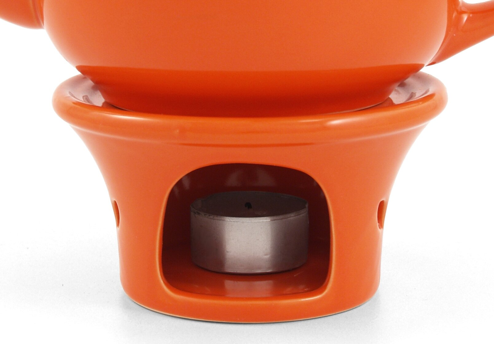 Metropolitan Tea Orange Ceramic Teapot Warmer
