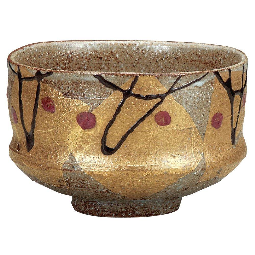 Japanese Matcha Bowl Gold Leaf Kutani Yaki(ware) by Kutani