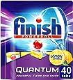 Finish Powerball Quantum Dishwasher Tablets, Lemon Sparkle, 40 Pack