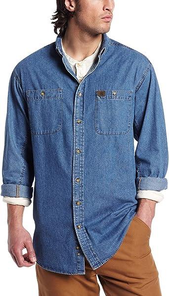 Wrangler Riggs Camisa vaquera de trabajo para hombre