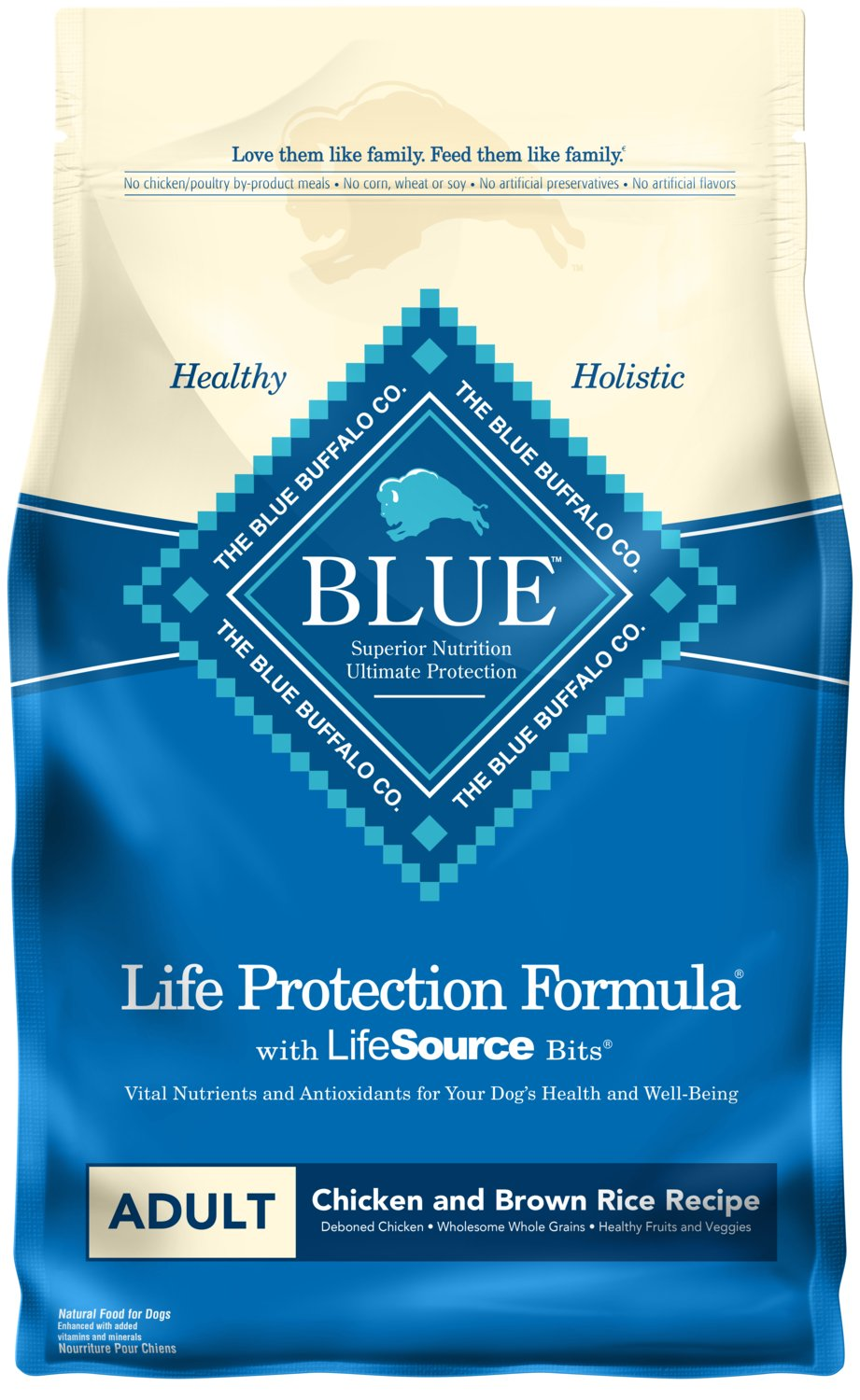 Blue Buffalo Life Protection Formula Adult Dog Food - Natural Dry Dog Food for Adult Dogs - Chicken and Brown Rice - 6 lb. Bag by Blue Buffalo