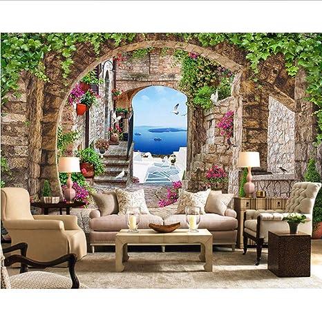 Wmbz Mediterrane Landschaft Fototapete Wandbild 3D Vintage ...