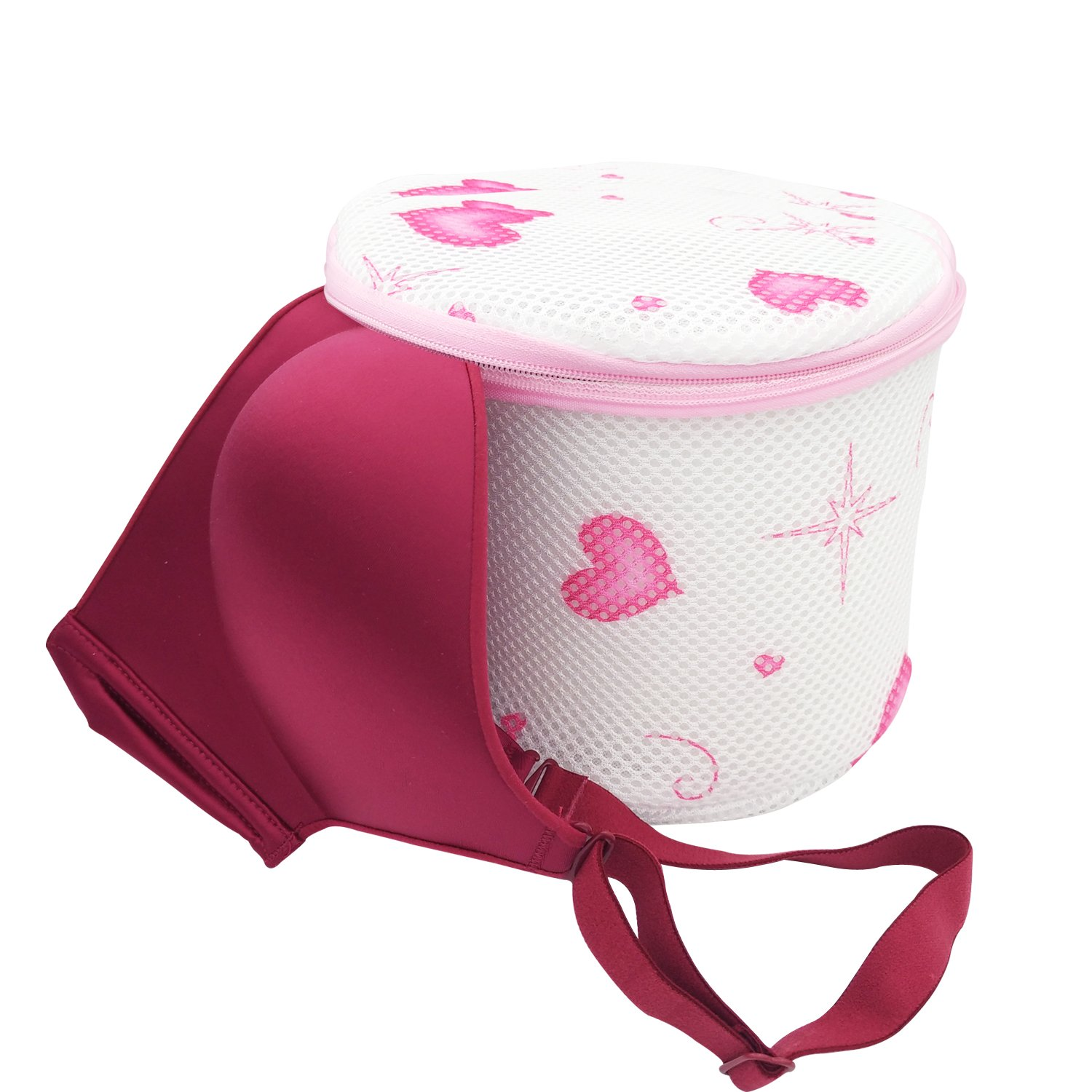 Twins Trade 2 Packs Bra Wash Bags Reusable for Lingerie,Yoga Bra,Hosiery,Stocking,Underwear Laundry Bags with Premium Zipper 2, White