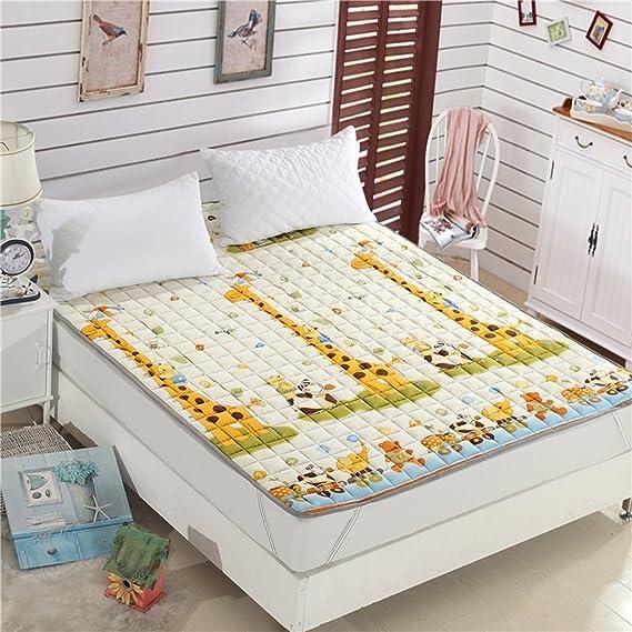 Fenfen Colchón de colchonetas para niños de Dibujos Animados [Dormitorio para Estudiantes] Tapete de algodón tapete Tatami con colchón (Tamaño : 90 ...