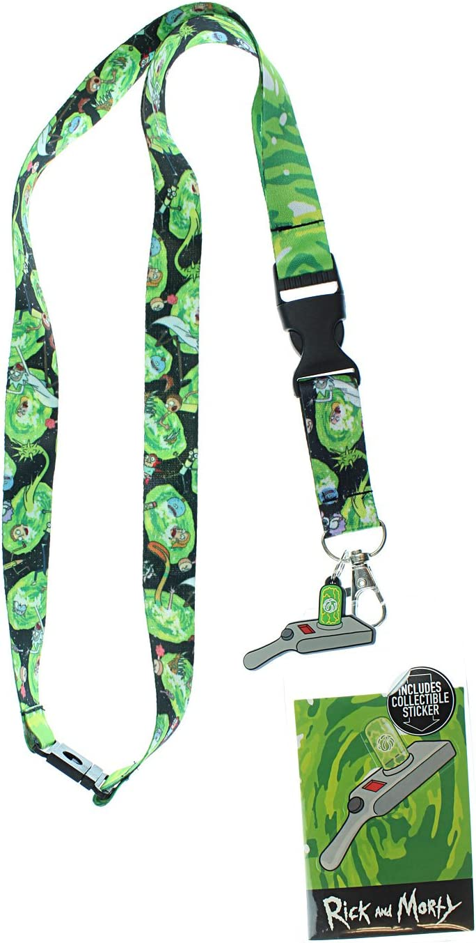 Rick and Morty Characters and Name LANYARD ID Holder Keychain