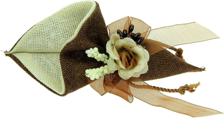 Anniversaire Bricolage bapt/ême Porte-confettis 20 pi/èces Sac de Mariage c/ône en Tissu Dragees f/ête des Bijoux Mariage Cadeau de Mariage