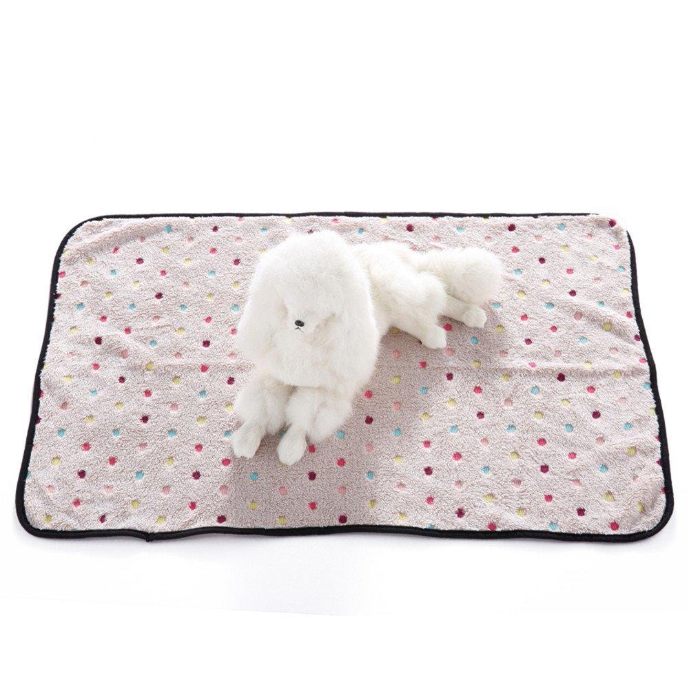 quanjucheer animal domestique Chat Chien Couverture, doux double face en tissu polaire mignon Pois chaud Lit Coussin confortable