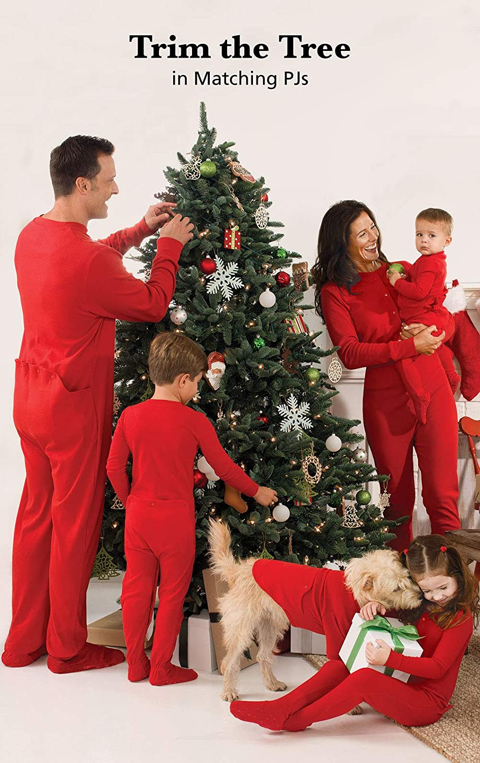 Amazon.com  PajamaGram Family Christmas Pajamas Onesie - Christmas Onesie  Red  Clothing 1004262a7