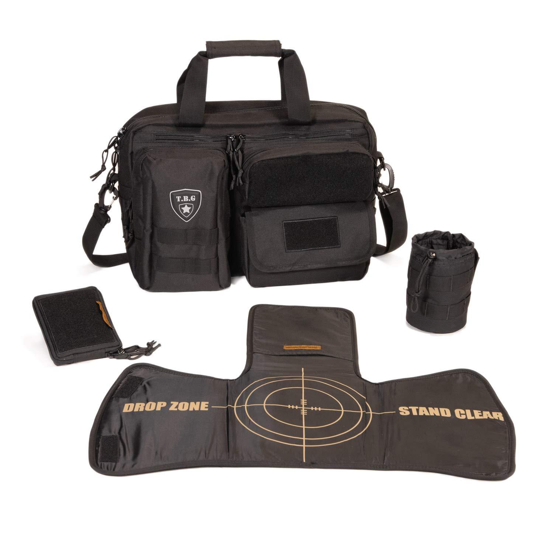 Tactical Baby Gear Deuce 2.0 Tactical Diaper Bag Combo Set and Changing Mat (Black)