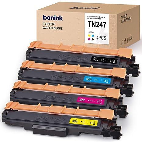 BONINK TN247 TN-247 Tóner Compatible para Brother MFC-L3710CW MFC ...