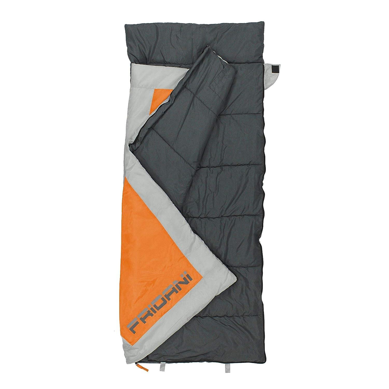 Fridani qo 170 K Camping Saco de Dormir hasta + 6 °C XL - Saco de Dormir Infantil 170 x 70 cm Outdoor - Saco con 1200 g cabaña Saco de Dormir ...