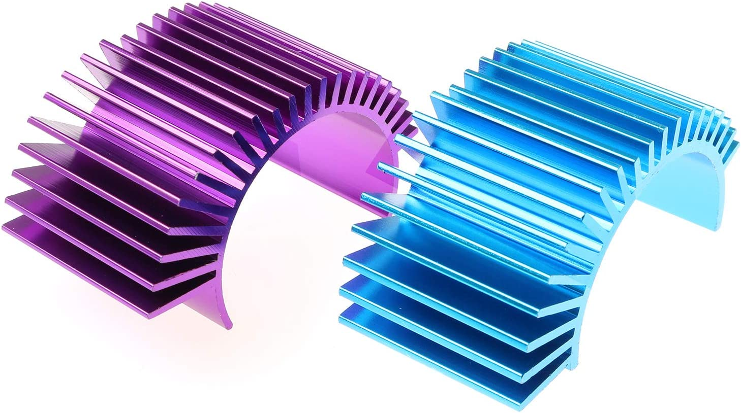 DGZZI Motor Heatsink 2PCS Racing Aluminum Electric Motor Heat Sink Radiator Cooling Fins for 540 550 3650 Motor RC Car Part