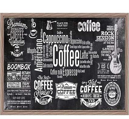 Finloveg Papel Tapiz Personalizado Pizarra Periódico Café ...