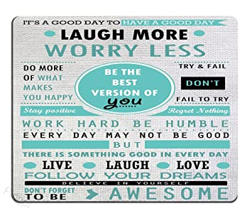 Amazoncom Pingpi Design Mouse Pad Inspirational Quotes Laugh