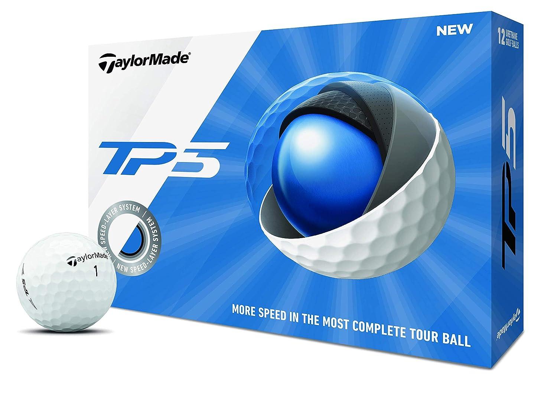 TaylorMade TP5ダースゴルフボール、白、1ダース(2019) B07LF3HTPJ