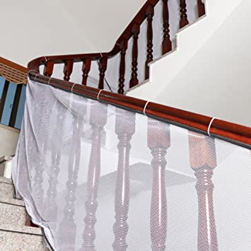 Beau Child Safety Rail Kid Safe Guard Stairs Safety Net Banister Stair Net For  Kids