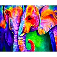 5D Diy Diamond Painting Elephant Embroidery Square Full Diamond Stitch Rhinestone Mosaic Home Decoration Gift 40x50 CM
