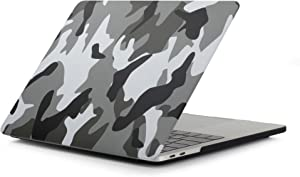 "MacBook Air Retina 13 Inch Case Model A2179/A1932 Release 2020/2019/2018, iZi Way Military Army Style Durable Plastic Hard Shell Cover for New Mac Air 13.3"" with Touch ID - Camouflage City Gray"
