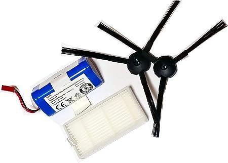 Juego de recambio para Medion MD 16192 de 1 par Cepillos, 1 pieza de filtro HEPA y 1 pieza batería: Amazon.es: Hogar
