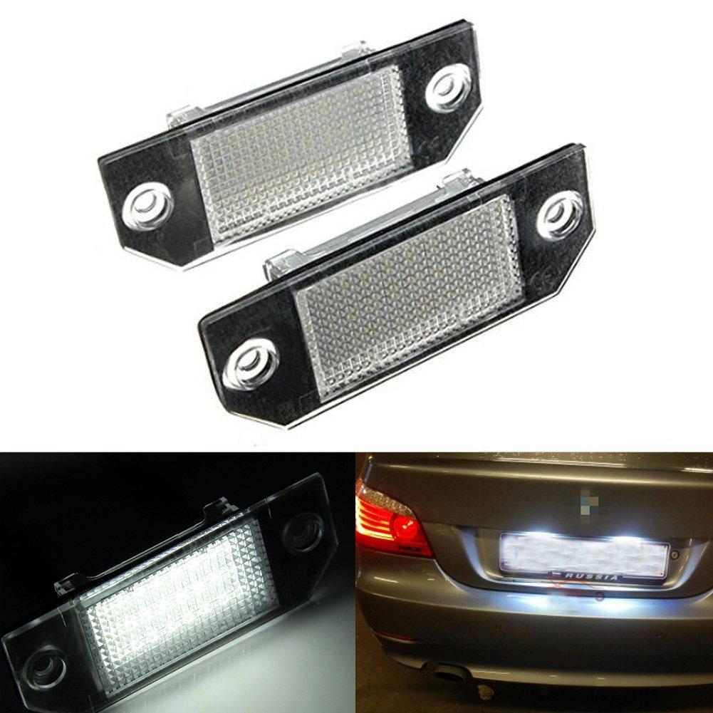 Ralbay 2-Pack Luce Targa Auto Luci Numero Targa 18 LED 3528 SMD Lampada Posteriori LED 12 V Ralbay2PCS Licht weiß KitLEDKennzeich